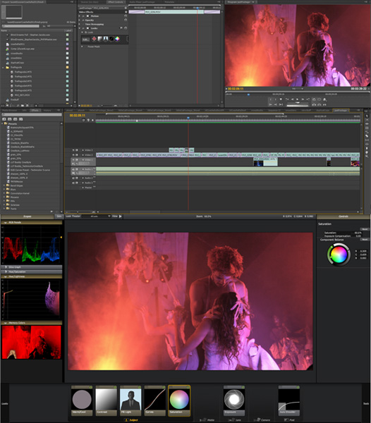 Editing in Adobe Premiere Pro CS5 and Color Grading in Red Giant Looks II