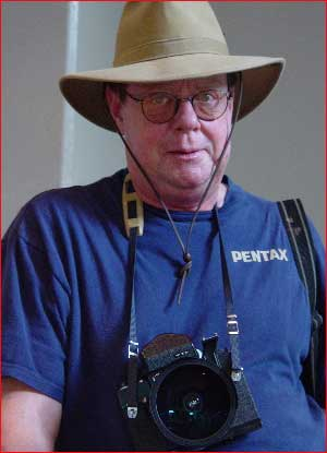Attendee and unofficial campground host Bill Owens, a guy with a big heart and a camera to match. - mj-billowens