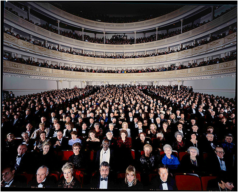 Audience attending Carnegie Hall Grand reopening Gala,1987