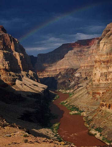 Rainbow Over Colorado River
