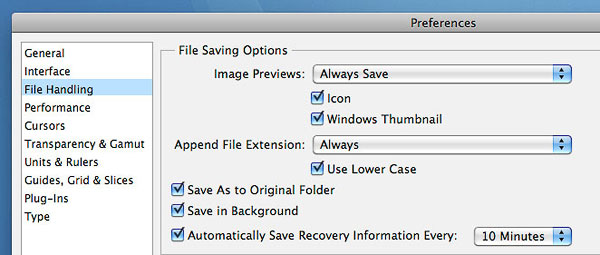how to turn off auto save on photoshop