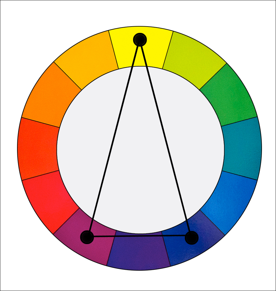 In A Split Complementary Color Harmony We Use Two Colors Plus The That Is Opposite To Them On Wheel
