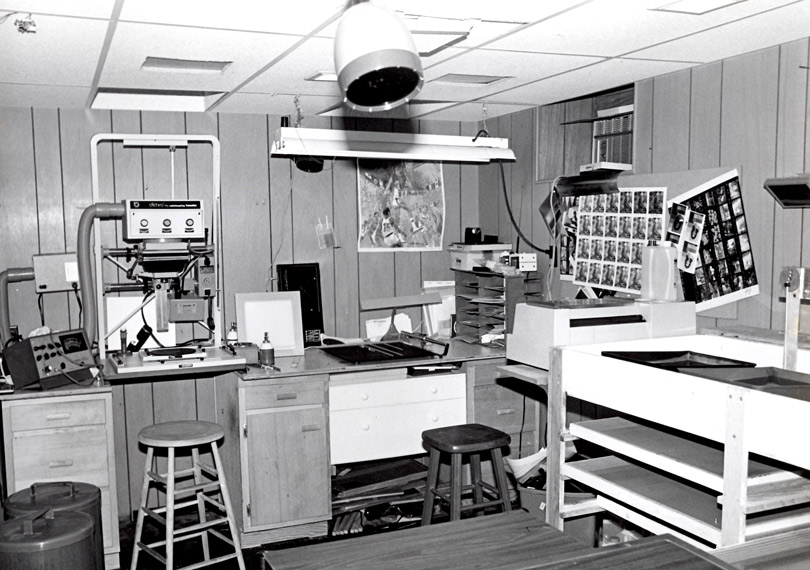 My very first color darkroom, 1975. This was a very special place for me.