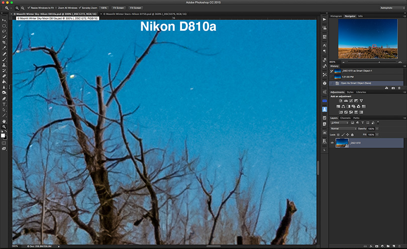 NIKON D810a Moonlit Nightscape Resolution