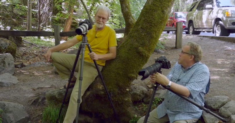 William Neill and Kevin Raber At Fern Spring in Yosemite NP discussing a scene they are shooting