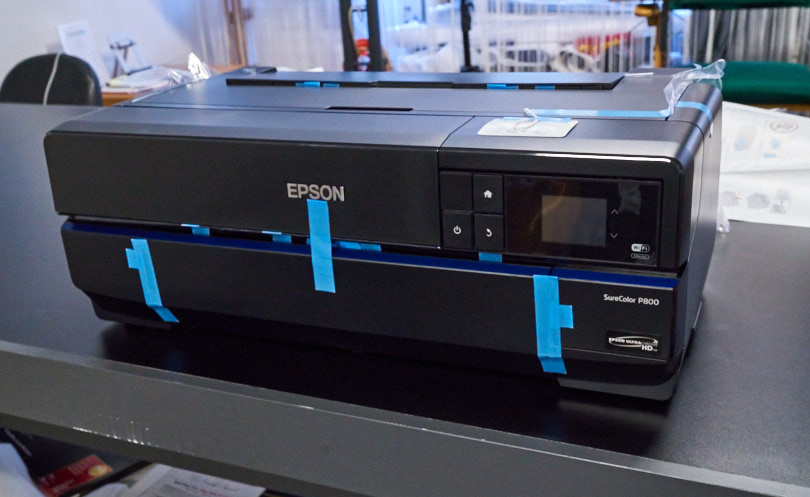 The famous Epson blue tape in all its glory