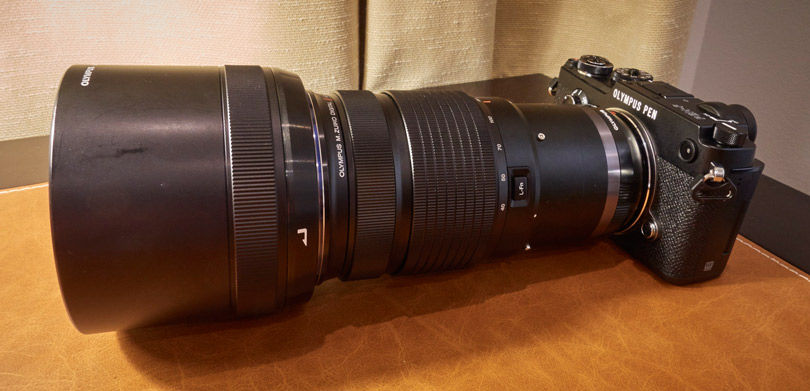 The 40-150mm lens on the PEN-F