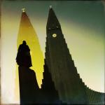 Hallgrímskirkja at dawn