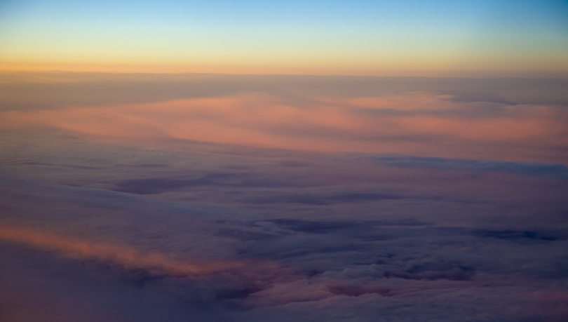 Figure 23. Sunset in the Clouds above Norway