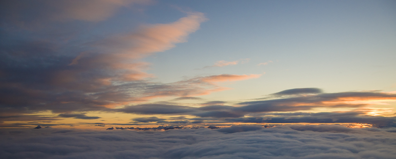 Figure 24. Clouds and Sunset above Norway