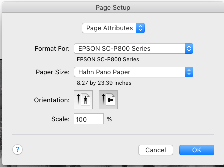Figure 4. Page Size Preset