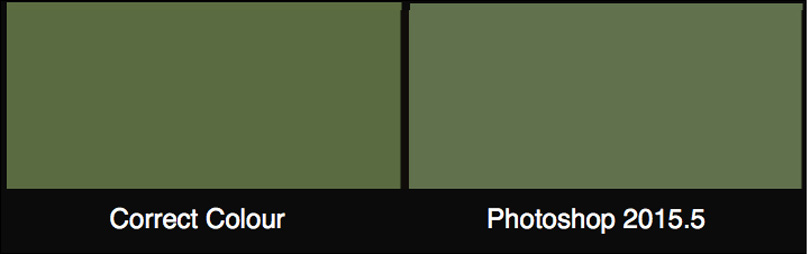 5. Correct and Photoshop printed Foliage compared