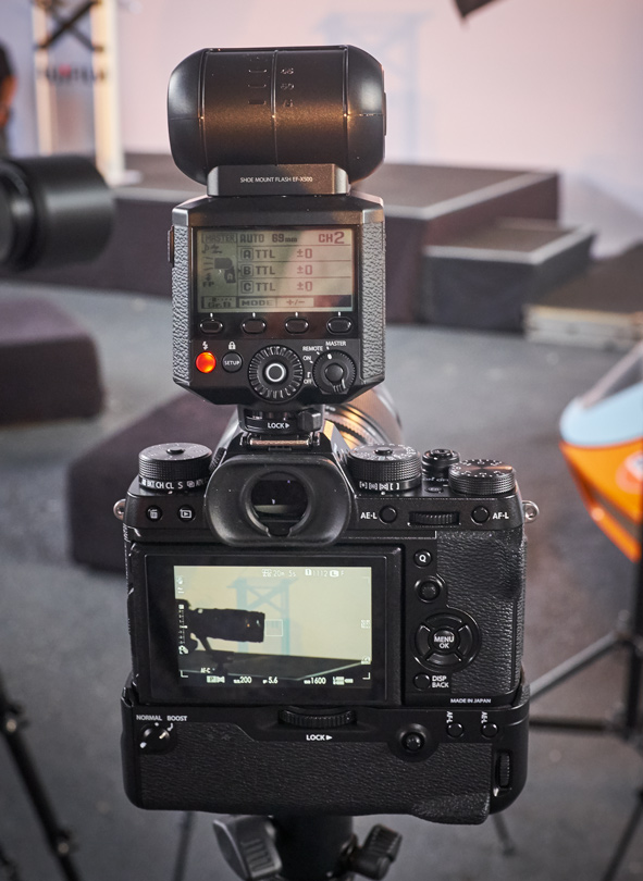 The X-T2 with the NEW EF-X500 TTL Flash