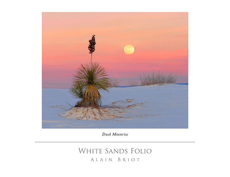 Yucca Sunrise, One of the images in one of my projects: the White Sands Folio