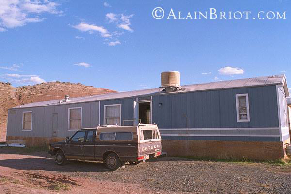 My 'studio' when Natalie and I lived on the Navajo Reservation