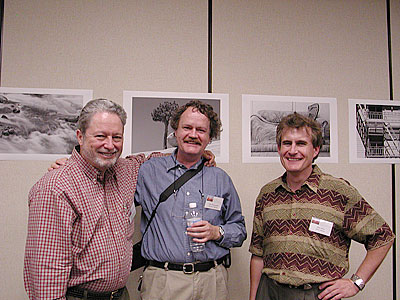 Michael Reichmann, Uwe Steinmueller and Alain Briot at the 2003 Fine Art Summit