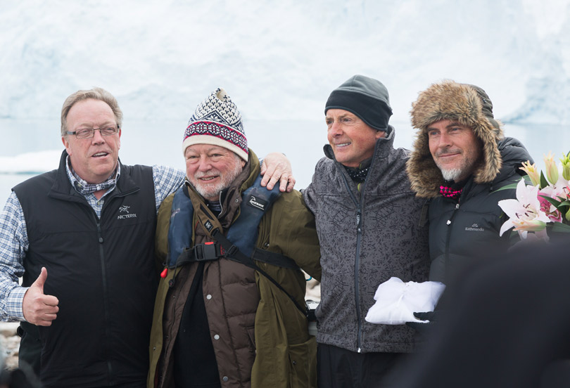 My Wedding party in Antarctica with Art Wolfe and Christian Fletcher
