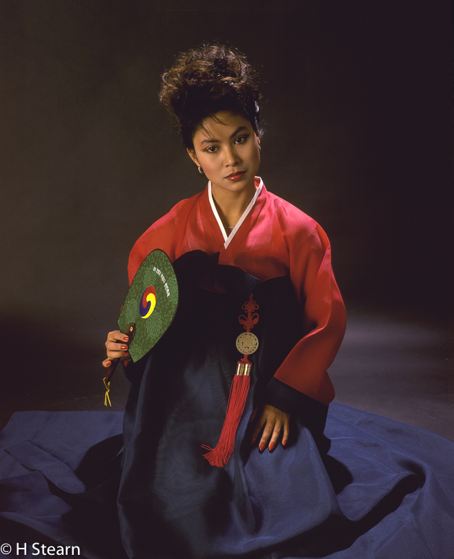 """Sylvia in Traditional Korean Dress"", Kodachrome 64 roll firm, 1986"