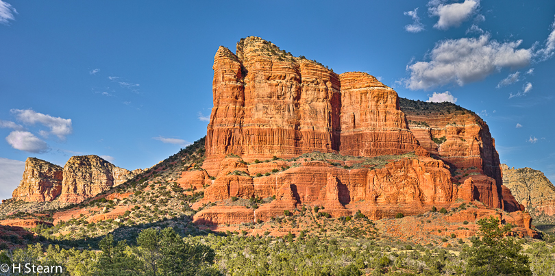Courthouse Rock, Sedona AZ (12 exposures in 4x3 grid)