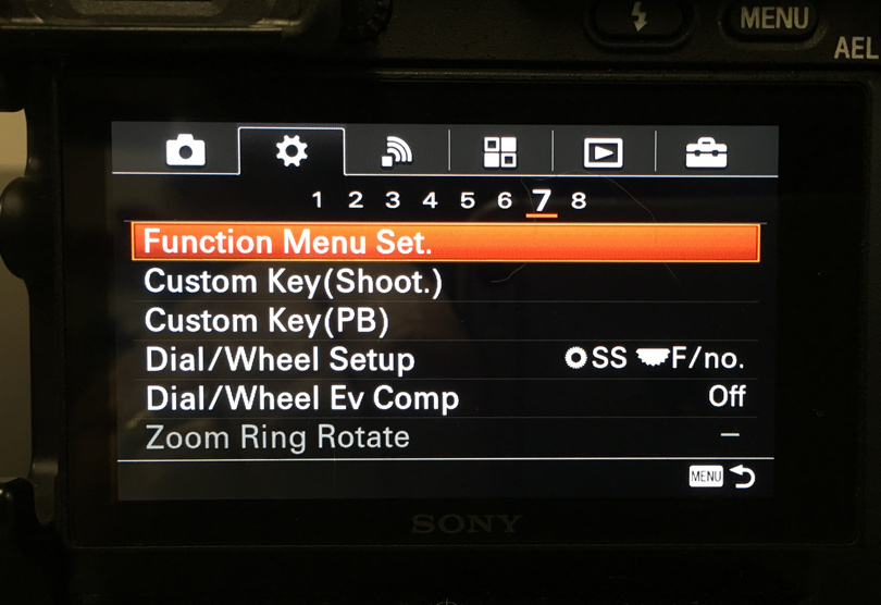 Welcome to one of the most confusing menu systems of any camera. After a while you'll get used to it but before making lot of mistakes and referring the manual a lot