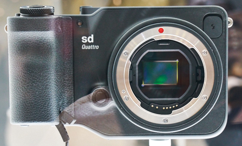 Sigma's SD Quattro - I could only see it under glass