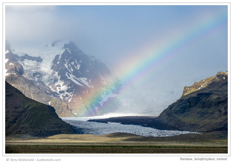 Rainbow, Svínafellsjökull, Iceland – 127mm (equiv.) ƒ5.6@1/500 ISO100 EV0 The ultimate travel camera is light enough to always be with me and has the versatility to handle a wide variety of situations.