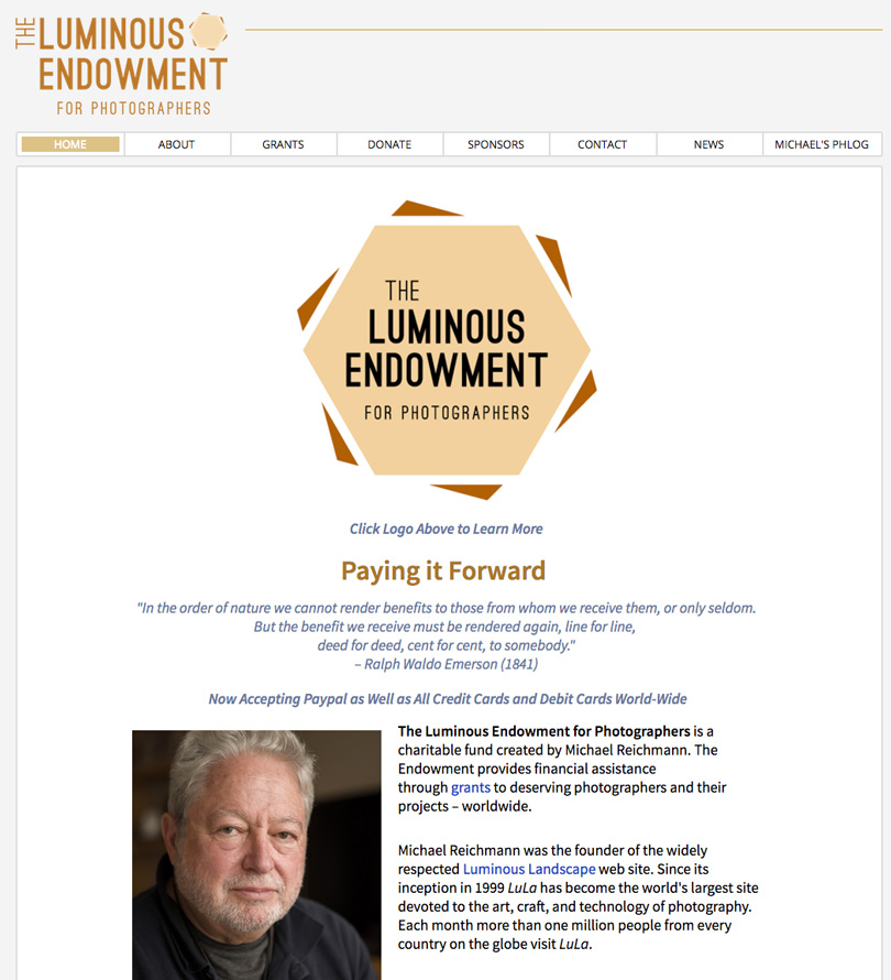 The Luminous-Endowment will soon be redesigned to be easier to navigate and submit grant applications