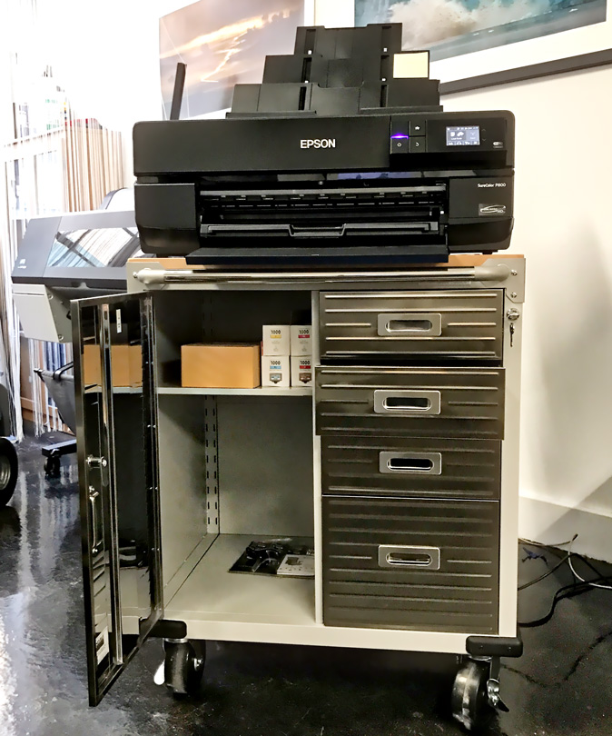 printer cart for the epson p800 and canon pro printers - Printer Cart
