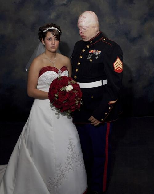 Nina Berman's photograph of Sergeant Ziegel at his wedding.