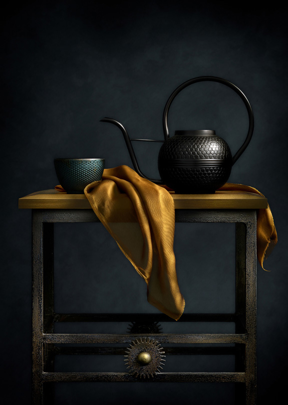 Still Life with Teapot and Table