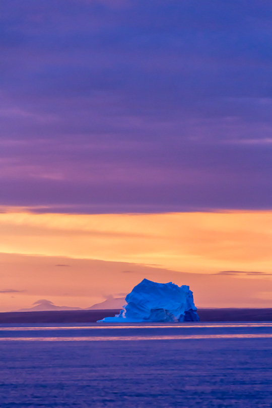 Iceberg, Colored With Light