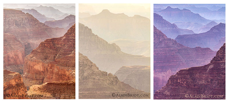 Grand Canyon Color Triptych