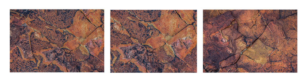 Rock Triptych Abstract #2