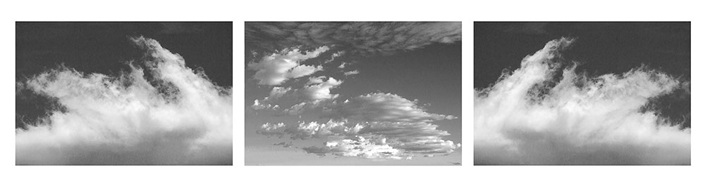 Clouds Black & White Triptych #1