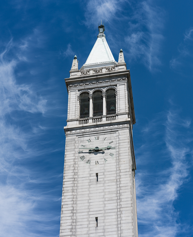 """The Campanile, Berkeley, CA""  ISO 100, 85mm, f8.0 @ 1/1000 s"