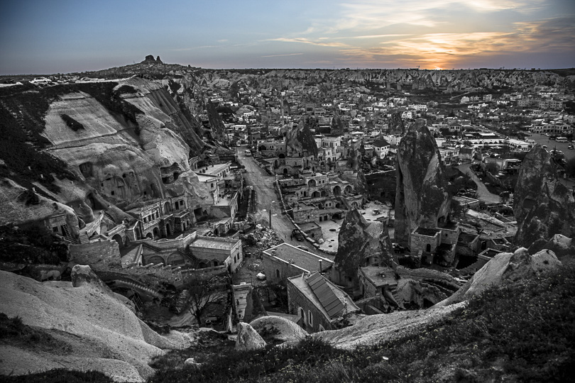 Goreme, Turkey; B&W/Color Mix Made in Lightroom; Photo Co. Mark D. Segal