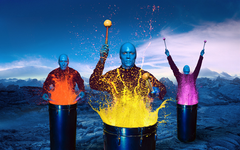 Digital composite for Blue Man Group Global Branding Campaign