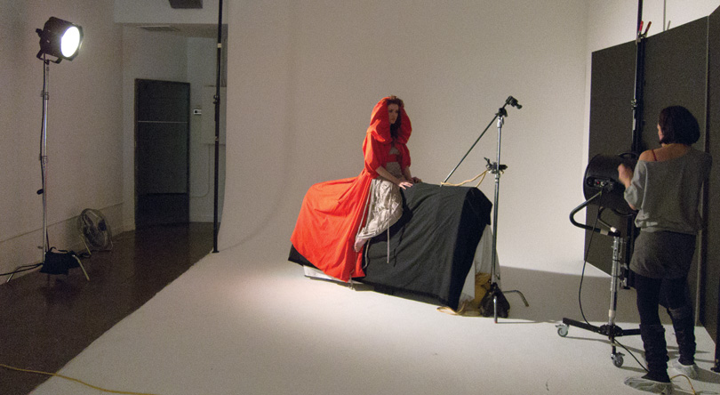 Shooting a model in the studio to match the rough composite