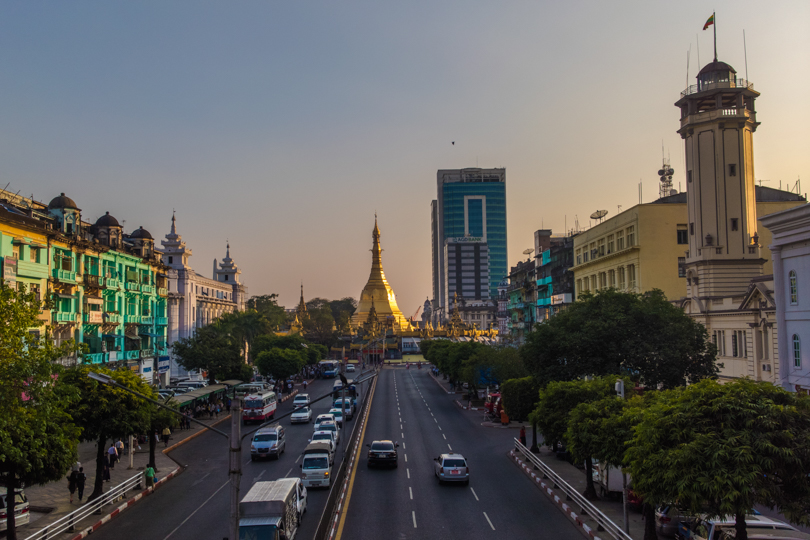 Shot with DXO ONE Camera. Sule Pagoda at Downtown Yangon