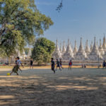 Shot with DXO ONE Camera. A game of Soccer outside the Kuthodaw Pagoda, Mandalay.