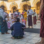 Shot with DXO ONE Camera. Parents preparing their kids for the Buddhist Initiation Ceremony, Mandalay.
