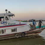 Shot with DXO ONE Camera. Boatcrew prepare the ferry for its trip down the Ayerawaddy River.