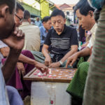 Shot with DxO ONE. Game of Checkers at the Bogyoke Aung San Market, Yangon.