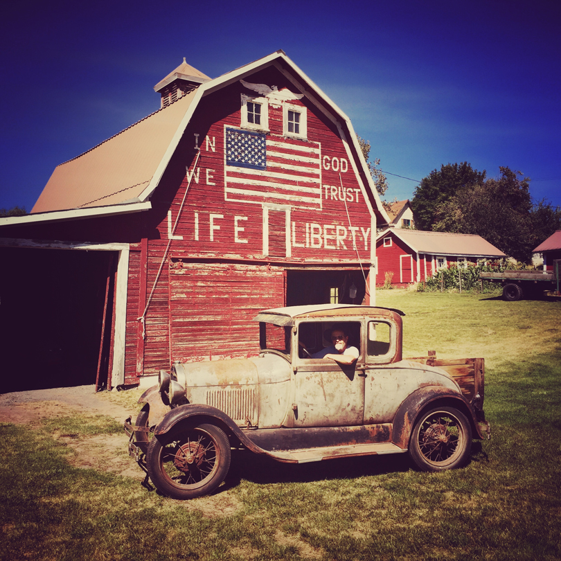 Old Barn and Truck