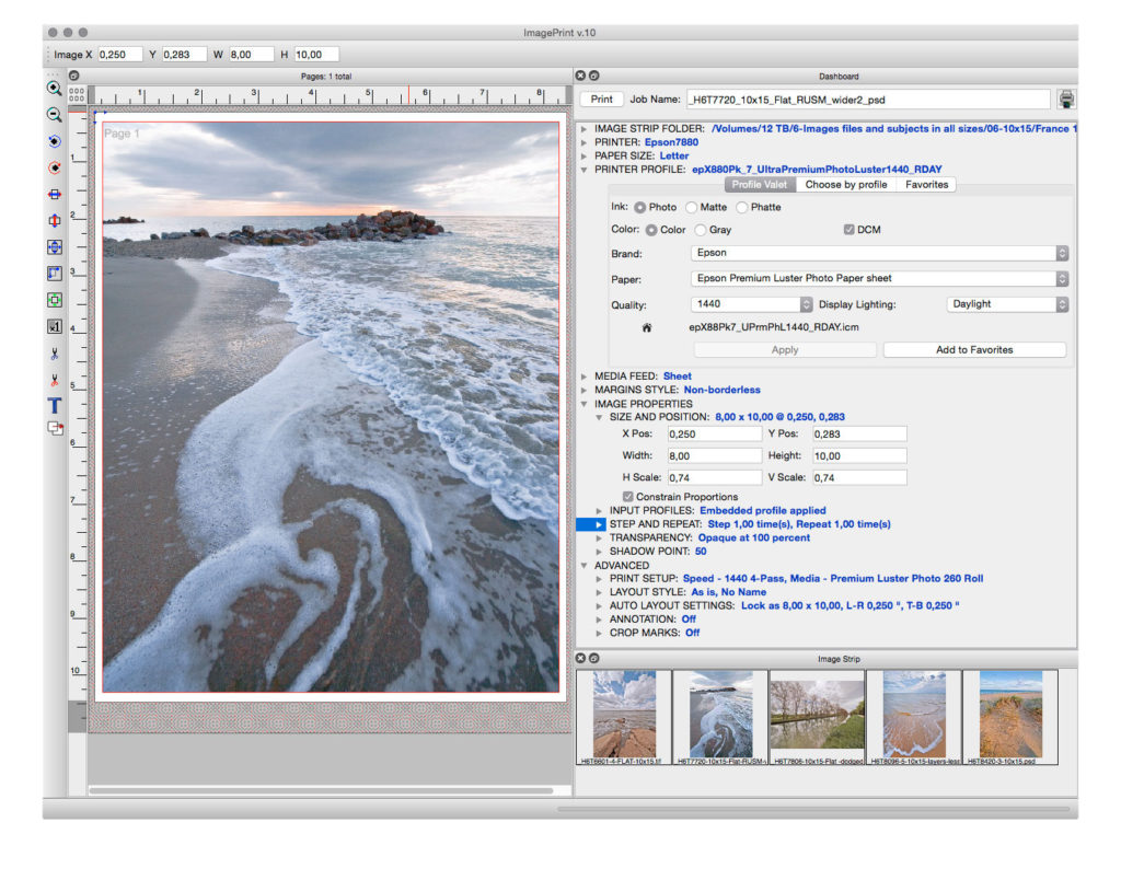 The ImagePrint interface