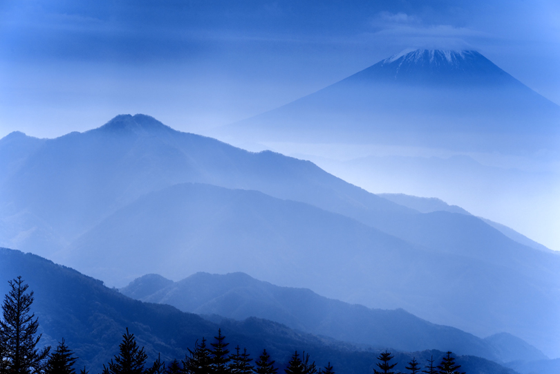 Mt. Fuji Seen From Nagano, Japan