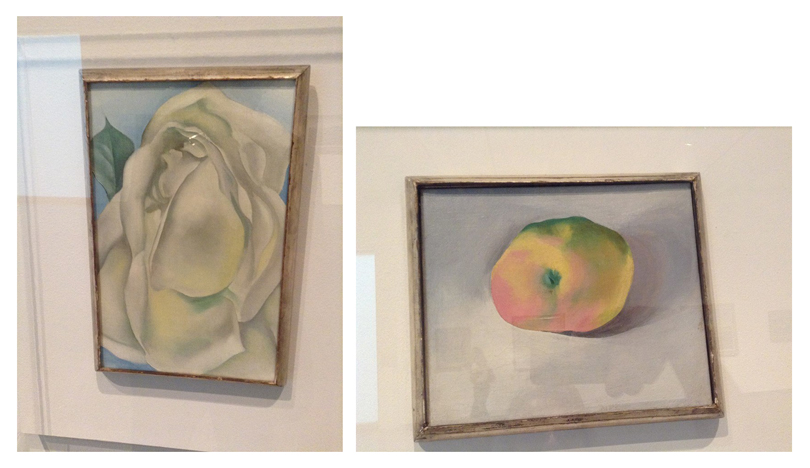 Museums offer the opportunity to see works of art that are not always published in books because they are considered 'minor works' by a specific artist. Such is the case with these small oil paintings by Georgia O'Keefe. They are in the collection of the Phoenix Art Museum and I have not seen them reproduced in books so far.