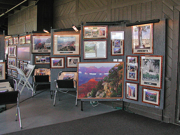 My show at the El Tovar Hotel on the south rim of Grand Canyon National Park.