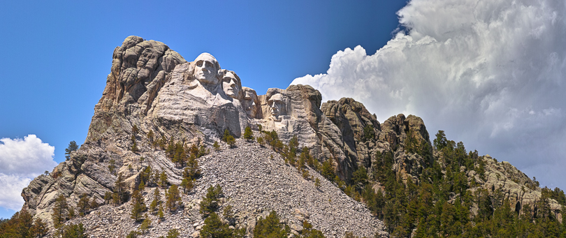 """Mount Rushmore, Stitched Panorama, 2014"", Sigma DP3M, 50mm f2.0 lens"