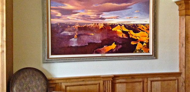 A large painting by Michael Stoyanov in my home.